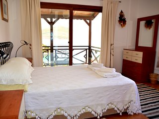 Master Bedroom with fabulous views overlooking the Mediterranean Sea!