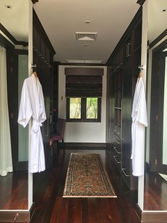 Master bedroom walk in wardrobe. For those who don't travel lightly.