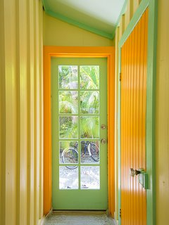 Colorful walls and woodwork