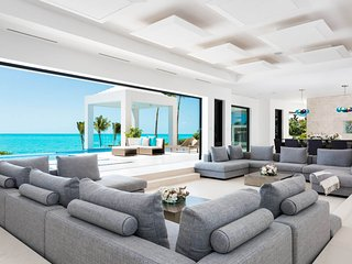 When in doubt, go on vacation. 10,000 sq. ft. beachfront estate, 2 pools, tennis court, Long Bay Beach