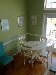 Additional Dining Table in Living Area Overlooking the Bay