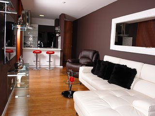 Exclusive one bedroom luxurious apt with A/C located next to El Tesoro mall