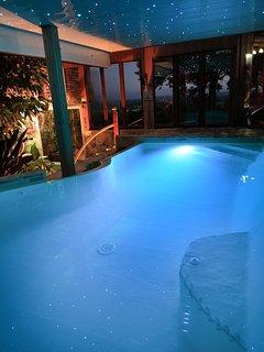 La piscine de nuit c'est génial