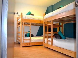 Habitacion compartida 4 camas