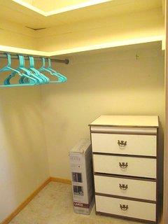 The main bedroom's closet.