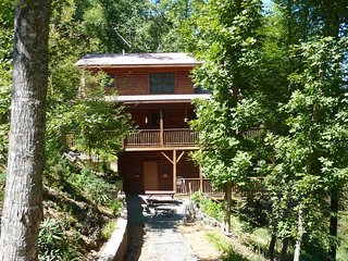Authentic Log Cabin with Charming Decor, near New River ~ RA136436, Boone