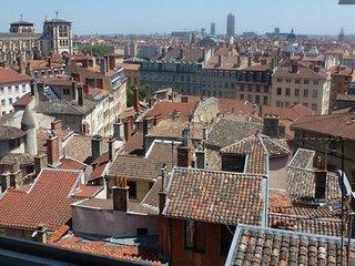 Immeuble vieux Lyon vue extraordinaire a 180 et jardin totalement privatif.