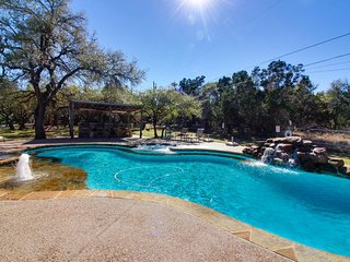 Country adorned dog-friendly home w/ shared pool & hot tub on large property