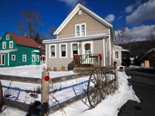 Stately home w/ cozy gas stove - near the river & great skiing at Okemo Mountain
