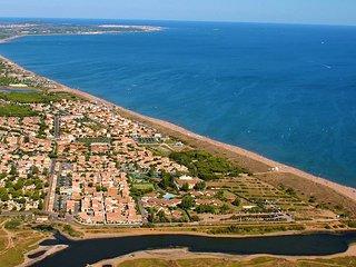 Ferienhauschen mit Terrasse 120m vom Mittelmeerstrand