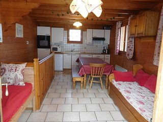 Chalet Aconit, 7/8 pers, grande terrasse SUD, pied pistes