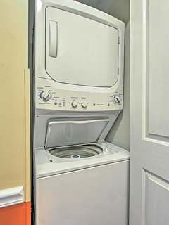 Throw in a load or two into the in-unit laundry machines.