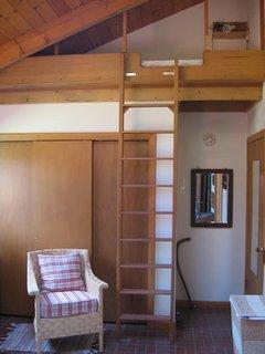 Loft bed in bunk room