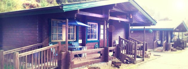 The Green lodge caters for 5 people set in 7 acres of broadleaf woodland, and also has a Hot-tub
