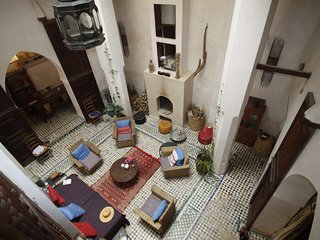 Sumptuous luxury and a warm welcome at Dar Sugar in the the heart of the Medina, Fès