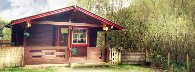 A well equipped  cosy lodge, ideal for couples in a beautiful setting in the valley of Wattsville.