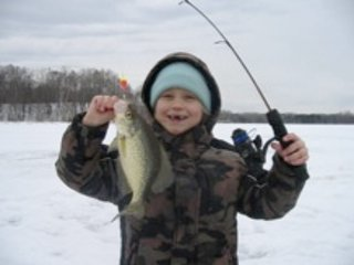 Excellent area lakes provide great ice fishing.  Guided trips available on request.