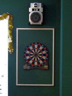 Electronic Dartboard in the Upstairs Lounge