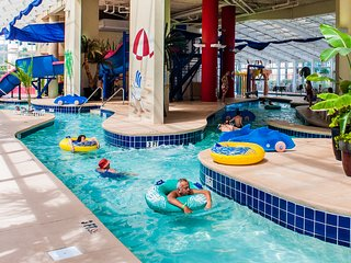 FREE NIGHT!! Book 4 nights Get 1 Free! This week only! Indoor Water Parks!