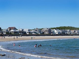 Close to the white sands and lively surf of Long Beach, Gloucester