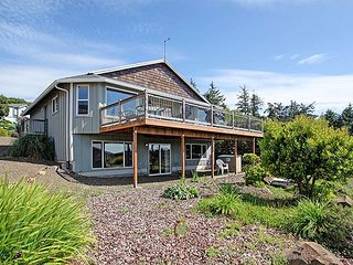 Experience Oceanside, Oregon from this home perched high above the waves!