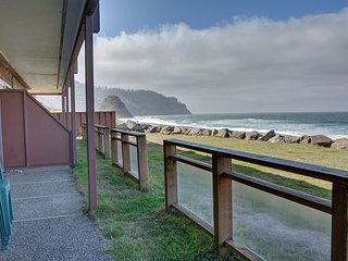 Beautiful oceanfront views from this beach condo in the heart of Neskowin!