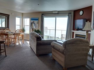 Great two bedroom location with bay front views moments away from the sand!