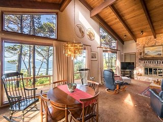Secluded oceanfront home with beautiful views just south of Newport, Oregon!