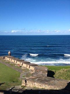 The spectacular ocean walk is just outside the door!