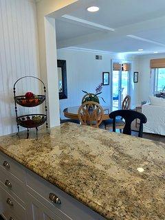 Kitchen thru Great Room with Great Views Casa 225 Casa de Balboa Vacation Rentals Newport Beach