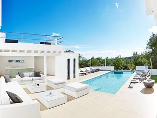 luxury Villa with amazing view over Ibiza town, Talamanca