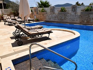 Main pool and terrace with loungers