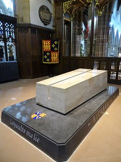 King Richard lll's tomb in Leicester Cathedral.