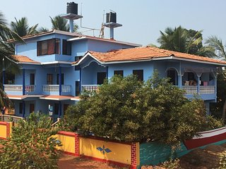 Budget Hotel Accomodation with kitchen in Goa near Morjim Beach  Ashvem Beach
