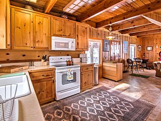 Wood paneling throughout make this cabin warm and cozy.