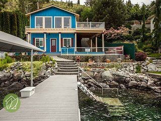 Lake Chelan Waterfront Home with Swim Cove by Sage Vacation Rentals