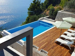 NEW! VILLA HRID Luxurious beachfront villa with infinity pool with massage
