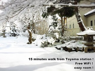 Access to Alpine Route Near JR Toyama st  free wifi COZY room Jpn garden