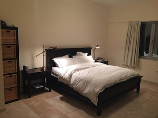 Large master bedroom with ensuite bath. Close to both old and new Dubai!