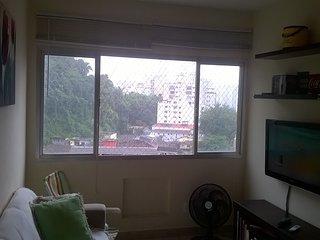 Apto. 1 dormitorio na Praia de Itararé. Em frente a estação VLT. Lindo visual!!!