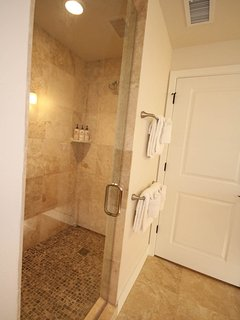 Large Walk-in Shower in the Master Bedroom
