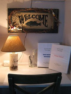 Our welcome desk at entrance
