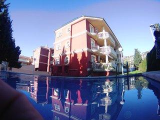 Residencial Madeira V gran terraza con vistas al mar Piscina Parking