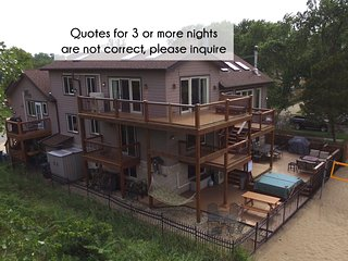 Lux Beachfront Slps 29, Chicago-40min, 2+ Ngt quotes NOT accurate, Please ask!