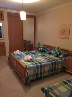 2nd Bedroom with Twin Beds and a Double Sofa Bed