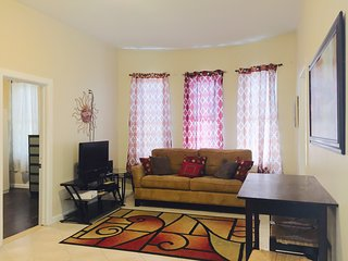 Furnished 4 Bedroom, 2 bathroom with private outdoor space. Sleeps 8 people.