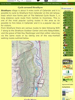 The National Cycle Route 7 connecting Carlisle and Inverness is approx 250 meters from the cabin.