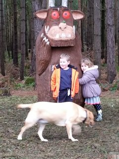 gruffalo - 10 minute walk away