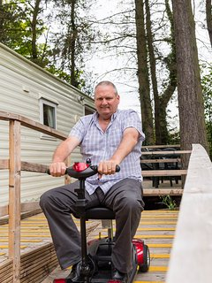 Access to caravan suitable for wheelchair users