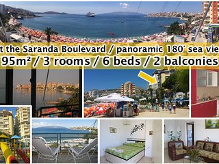 3 room apartment in the center of Saranda with sea view in each room